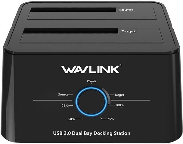 Wavlink WL-ST334U USB 3.0 to SATA Dual Bay Hard Drive Docking Station for 2.5