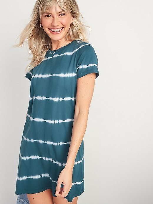 Fitted Tie-Dye T-Shirt Dress for Women   Old Navy