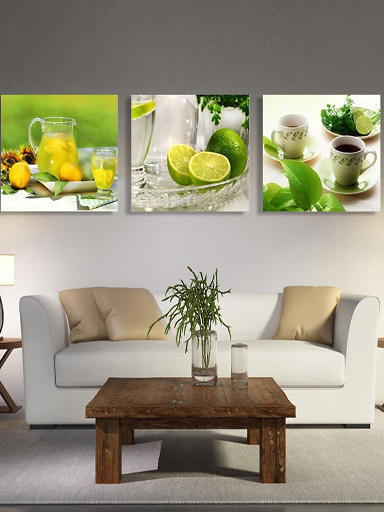 3Pcs Panel Unframed Modern Painting Fruit Wall Art Picture Canvas Living Room Home Decor