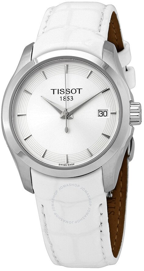 Tissot Couturier Quartz Silver Dial Ladies Watch