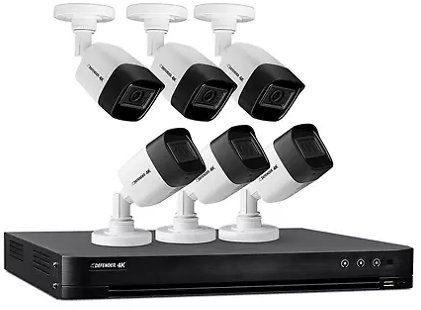 Defender Ultra HD 4K (8MP) 2TB Wired Security Camera System