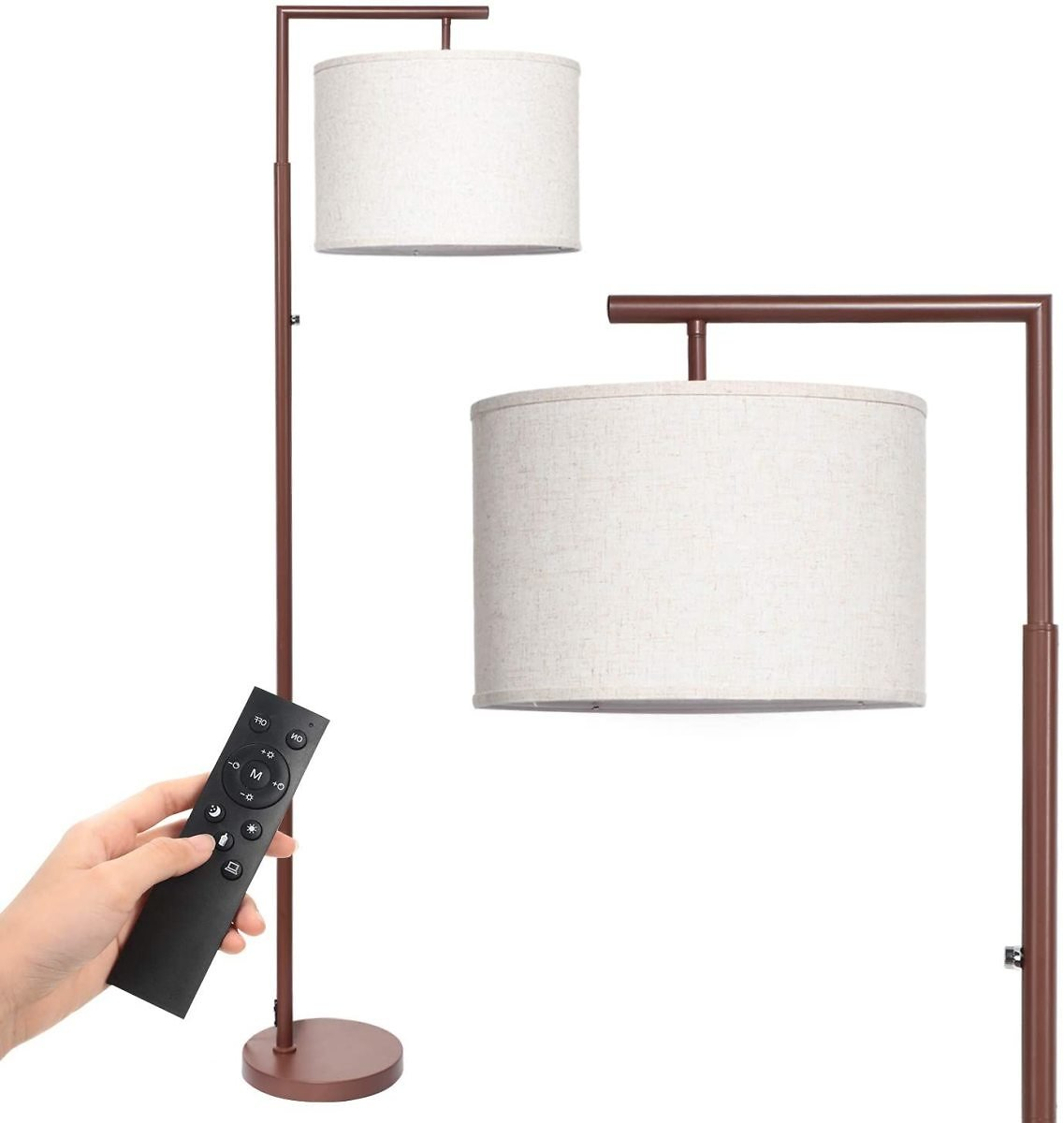 Deeak Floor Lamp,Stepless Brightness &4 Color Temperature Modern Standing Shade Led Floor Lamp with Remote & Touch Control for L