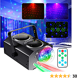 Disco Lights, NEXTAMZ Sound Activated Disco Ball Lights with Remote Control The Light for Party Disco Bedroom, Party Lights Have Build-in Wireless Speaker Can Play Music