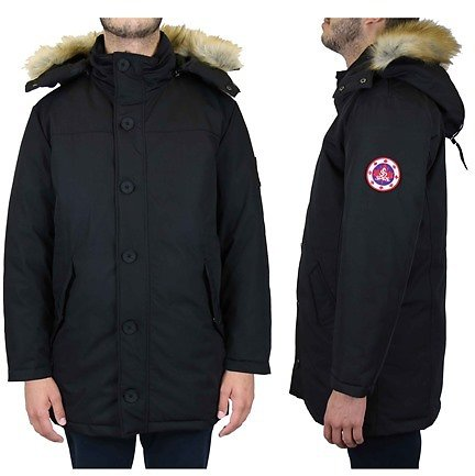 Spire By Galaxy Men's Heavyweight Classic Parka with Detachable Hood