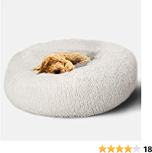47% OFF Foxmas Fluffy Dog Bed Cat Bed Faux Fur Plush Pet Beds for Small/Medium Dogs or Cats