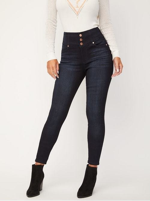 Emmy High-Rise Button Front Pants