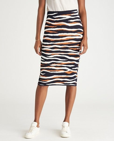 Tiger Print Sweater Pencil Skirt | Ann Taylor
