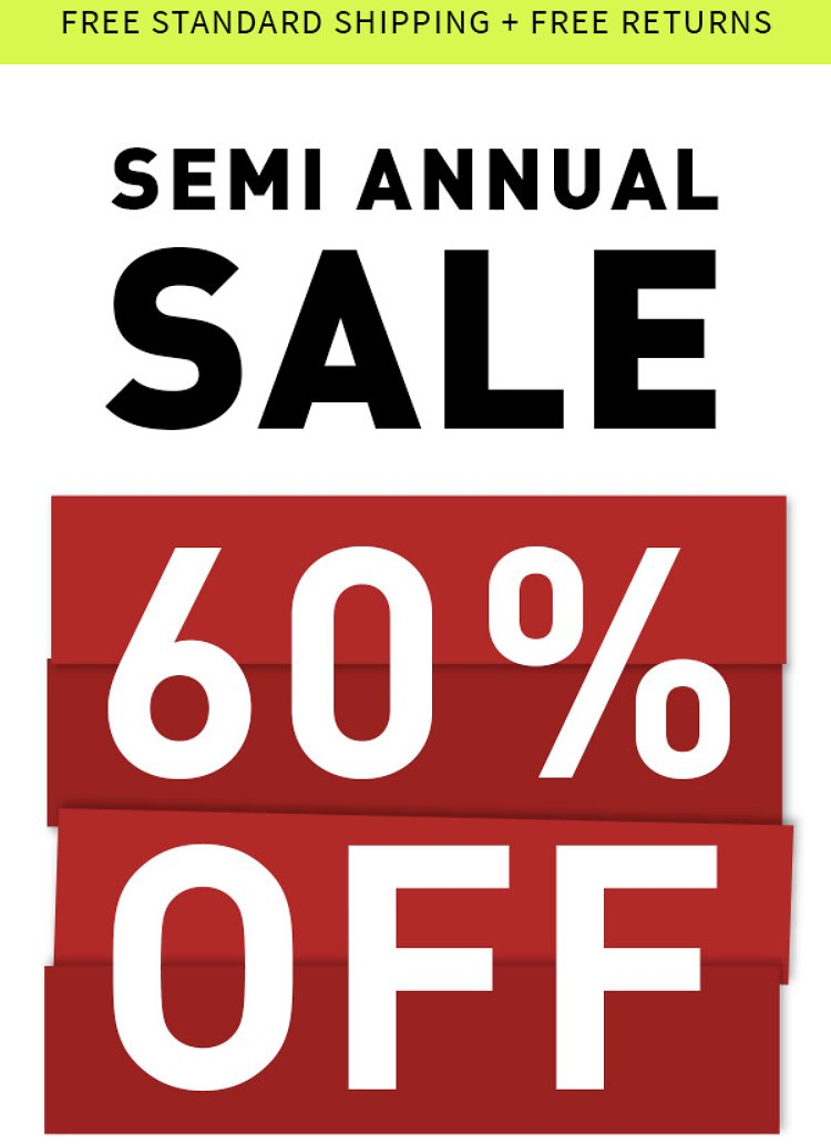 Armani Exchange -50-60% Semi Annual Sale + Free Shipping On Everything