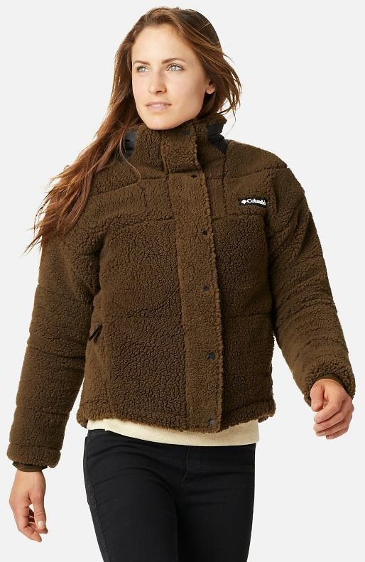 Womens Columbia Lodge Baffled Sherpa Fleece Jacket