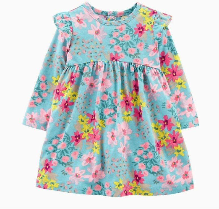 Baby Girl Carter's Floral Jersey Dress By Carter's