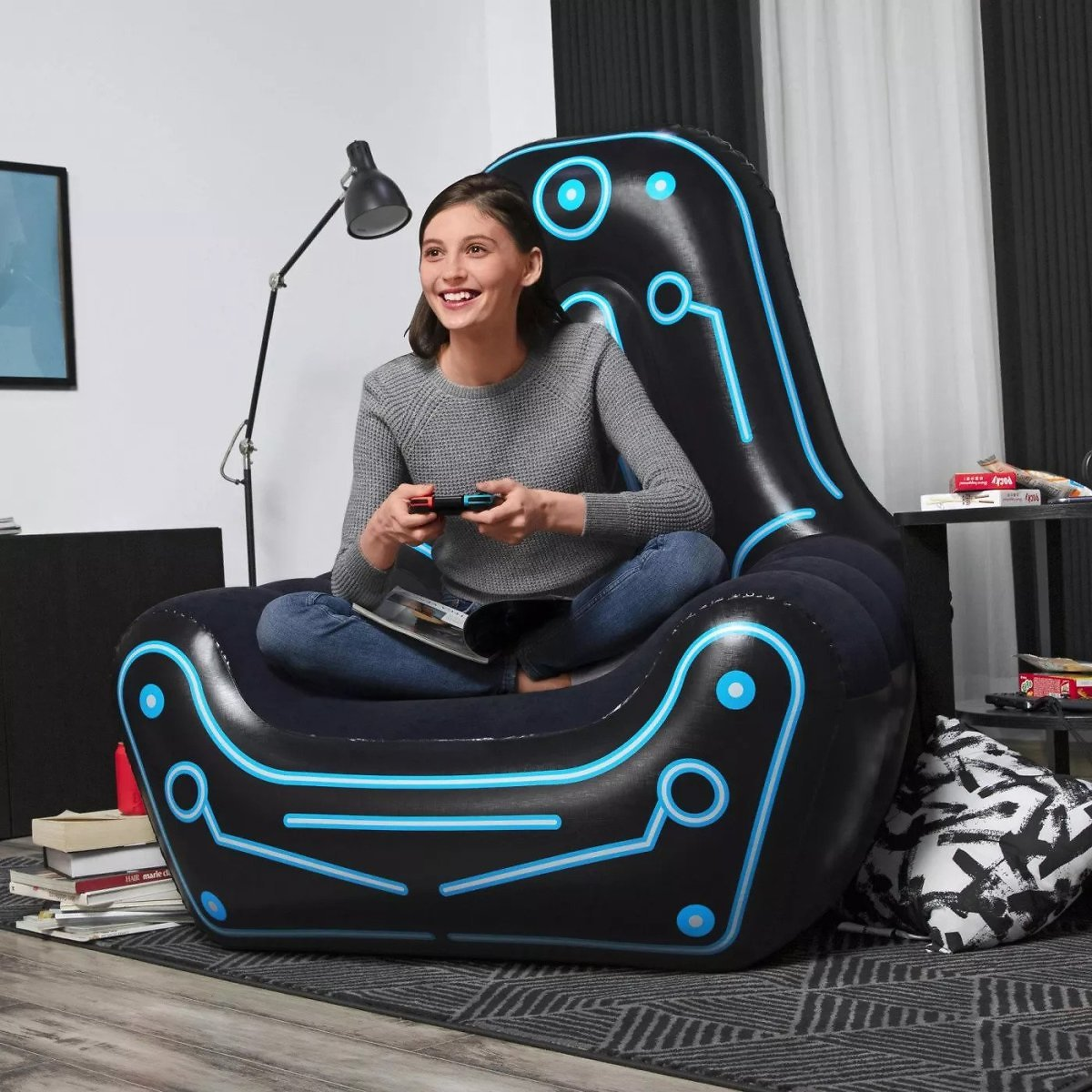 Bestway Mainframe Futuristic Style Inflatable Lounger Gaming Chair