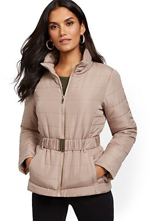 Belted Puffer Jacket (6 Colors)
