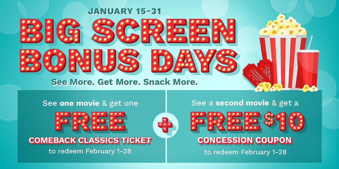 FREE Cinemark Movie Ticket + $10 Concession Coupon