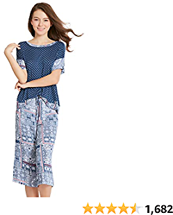 INK+IVY Womens Capri Pajama Sets Plus Size Ladies Short Sleeve Sleepwear and Pajamas Pants Set