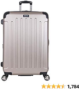 """Kenneth Cole Reaction Renegade 28"""" Lightweight Hardside Expandable 8-Wheel Spinner Checked-Size Luggage, Champagne, Inch"""