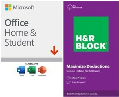 H&R BLOCK Tax Software Deluxe + State 2020 Windows (Bundle)