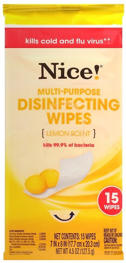 15-Ct Nice! Disinfecting Wipes