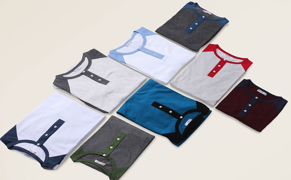 H2H Mens Casual Premium Slim Fit T-Shirts Henley Long & 3/4 Sleeve Spring Summer Clothes At Amazon Men's Clothing Store