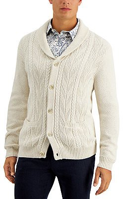 Tasso Elba Men's Chunky Shawl-Collar Cardigan Sweater, Created for Macy's & Reviews - Sweaters - Men