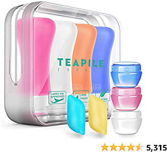 4 Pack Travel Bottles, TSA Approved Containers, 3oz Leak Proof Travel Accessories Toiletries