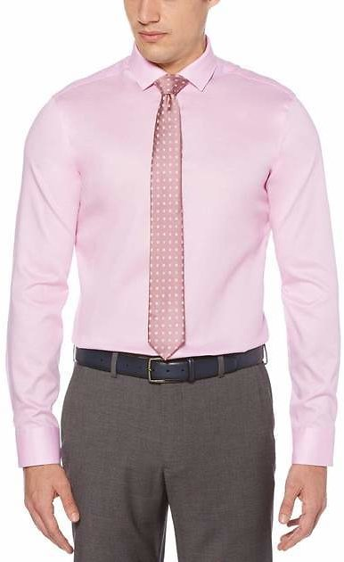 Very Slim Fit Non-Iron Solid Dress Shirt