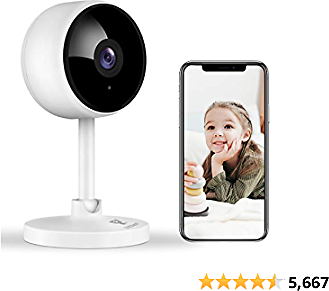 Home Security Camera, Littlelf 1080P FHD Indoor WiFi Wireless Camera with 2-Way Audio, Night Vision......