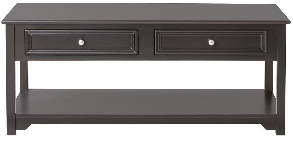 Oxford Black 4-Door Coffee Table