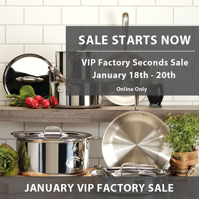 Up To 75% Off All-Clad Seconds Sale