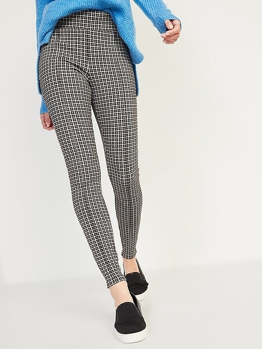 High-Waisted Stevie Pintucked Patterned Pants for Women | Old Navy