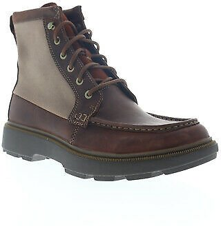 Clarks Dempsey Peak 26147111 Mens Brown Leather Lace Up Casual Dress Boots