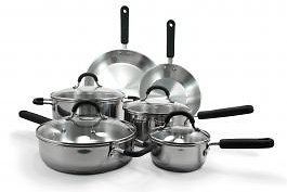 Prime 10 Piece Stainless Steel Cookware Set