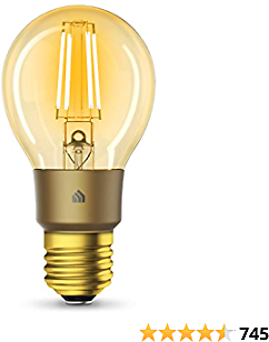 Kasa Smart Wi-Fi LED Bulb By TP-Link, Filament A19 E26 Smart Light Bulb, Warm Amber 2000K,....