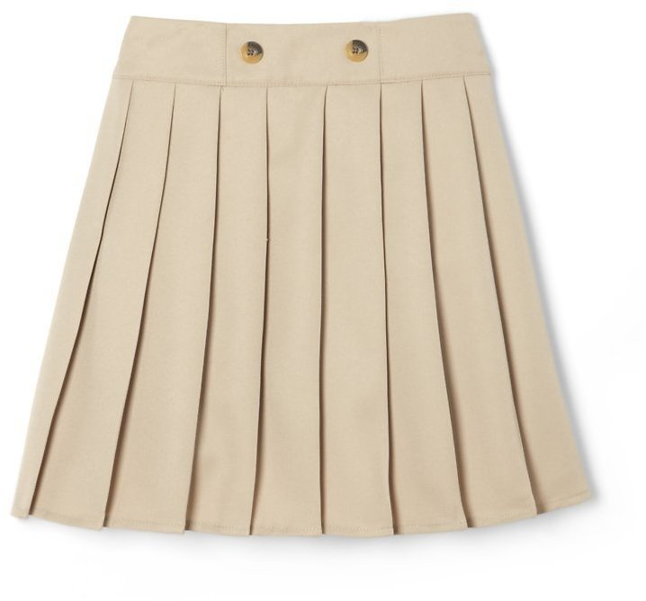 French Toast Girls School Uniform Adjustable Waist Front Button Pleated Scooter Skirt, Sizes 4-20