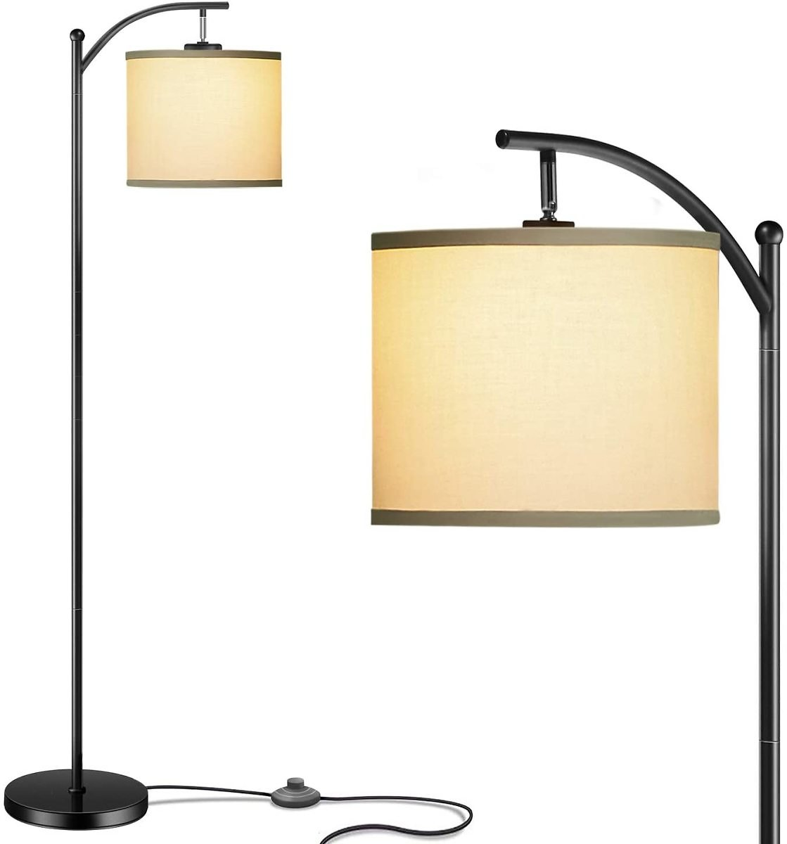 Floor Lamp with Lamp Shade and 9W LED Bulb