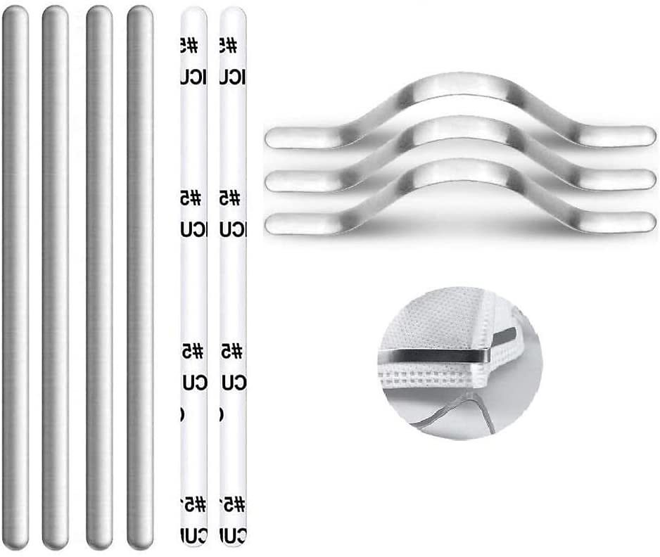 Nose Bridge Strips, Aluminum Metal Nose Strip, Adjustable Nose Clips Wire for DIY Face Mask Making Accessories for Sewing Crafts