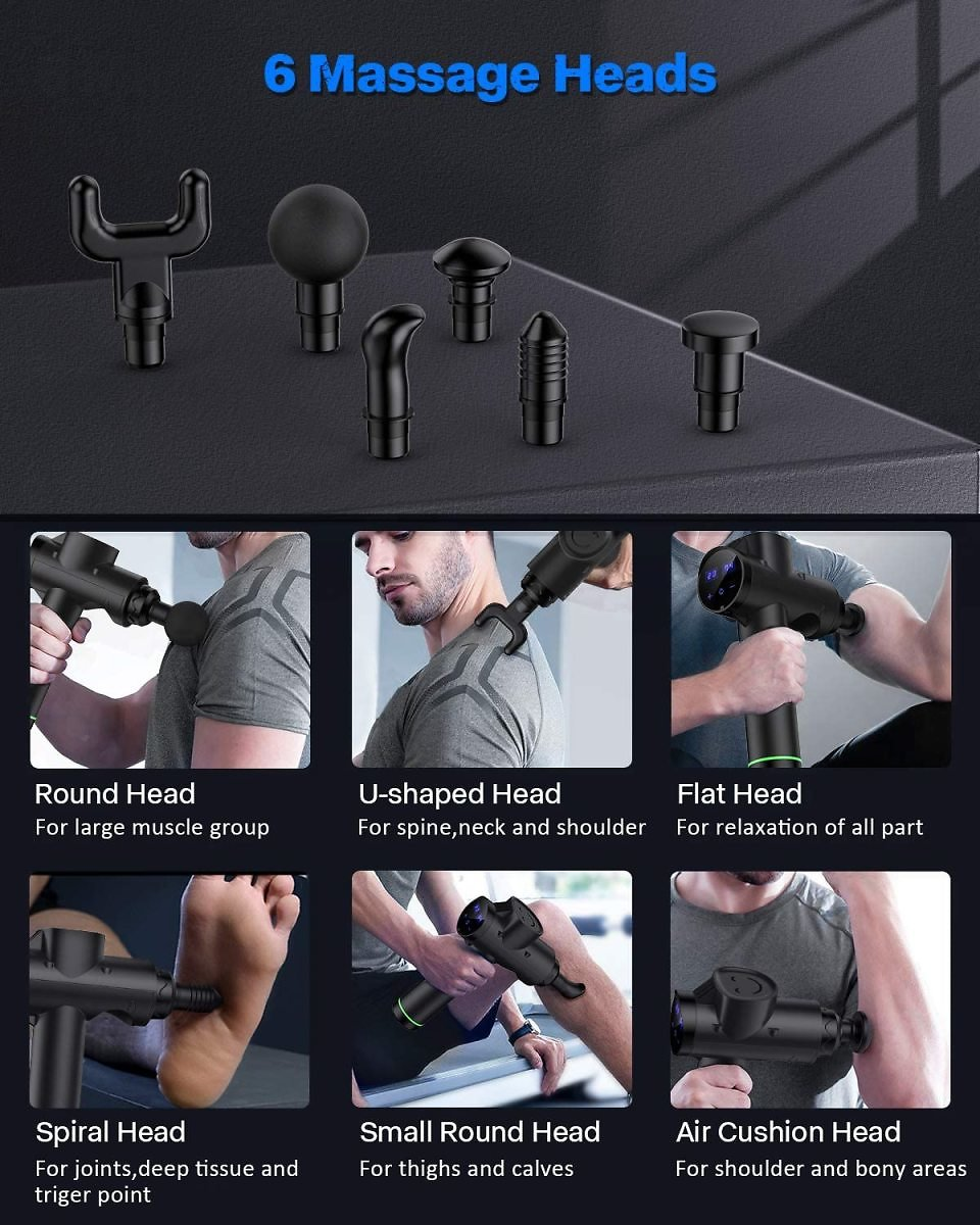 FYLINA Massage Gun Deep Tissue Percussion Muscle Massage Gun for Athletes for Pain Relief