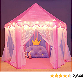 Wilwolfer Princess Castle Play Tent for Girls Large ....