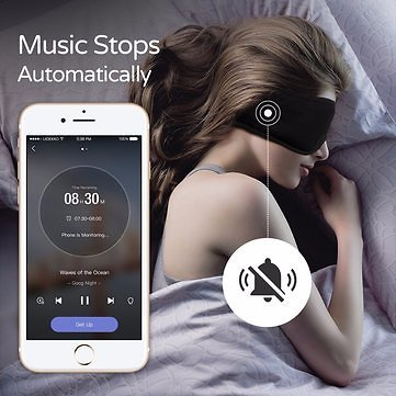 XIAOMI Sleepace Sleep Headphones Comfortable Washable Eye Mask Smart App Sound Blocking Noise Cancelling Earphone Remote Control