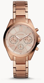 Modern Courier Midsize Chronograph Rose Gold-Tone Stainless Steel Watch - BQ3036 - Fossil