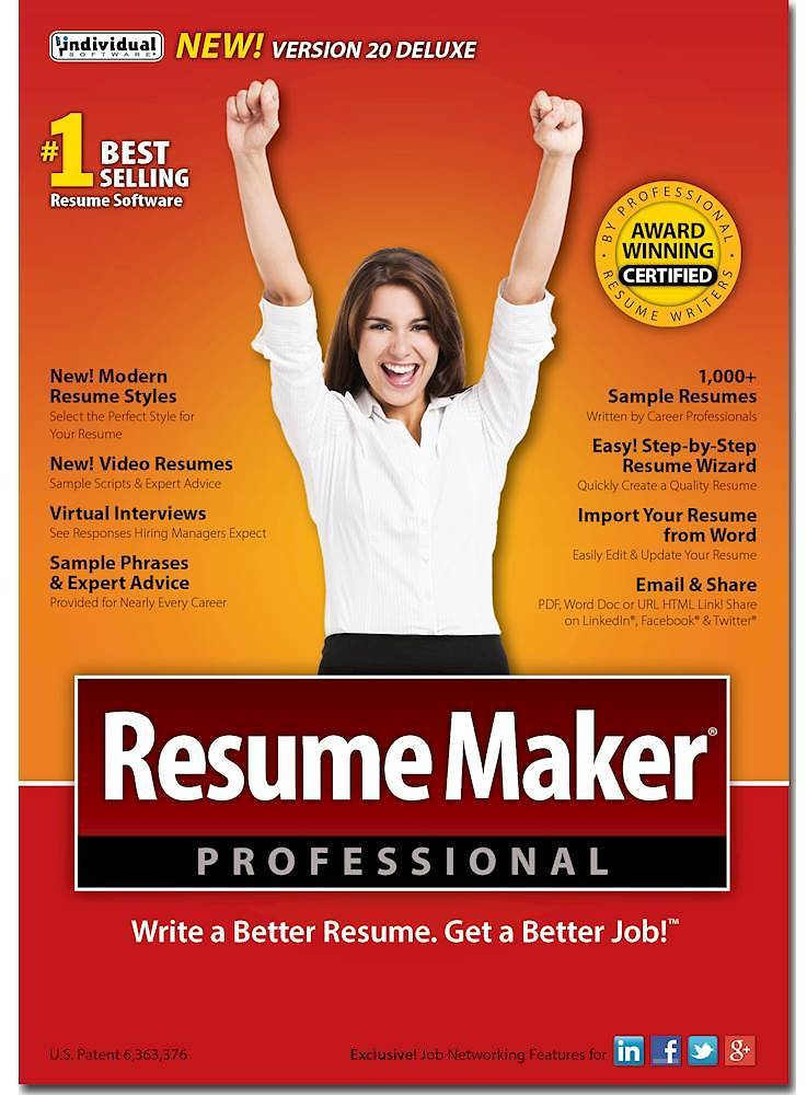 Individual Software ResumeMaker Professional Deluxe 20 Windows IND945800F002