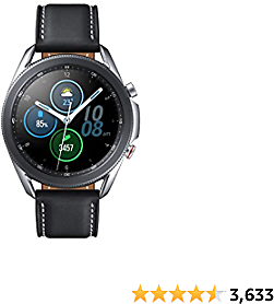 Samsung Galaxy Watch 3 (41mm, GPS, Bluetooth, Unlocked LTE) Smart Watch with Advanced Health Monitoring, Fitness Tracking , and Long Lasting Battery - Mystic Silver (US Version)