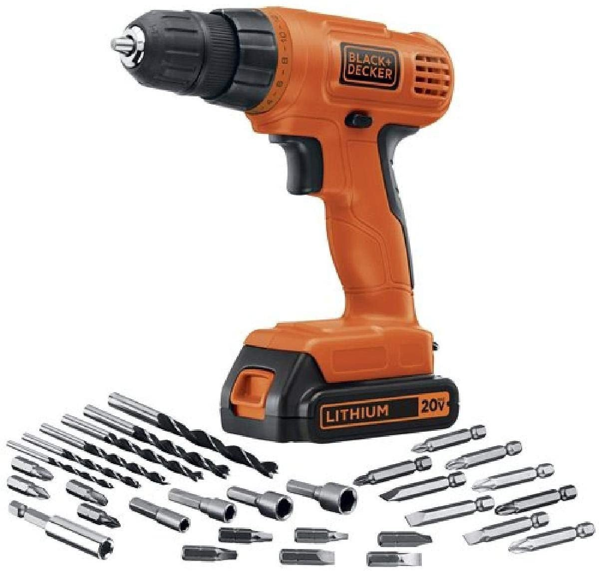 43% Discount - BLACK + DECKER 20V MAX Cordless Drill / Driver with 30-Piece Accessories