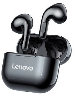 Lenovo LP40 TWS Bluetooth 5.0 Earphone Wireless Earbuds HiFi Stereo Bass Dual Diaphragm Type-C IP54 Waterproof Sport Headphone with Mic