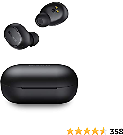 True Wireless Earbuds, BCMASTER Bluetooth 5 Headphones in Ear with Microphone, 25-Hour Playtime for Sport and Office, Touch Control, Hi-Fi Stereo, Sweatproof Earphones for IPhone and Android