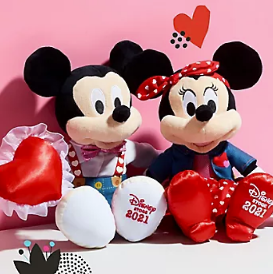 $14.99 Mickey or Minnie Valentine's Plush Offer