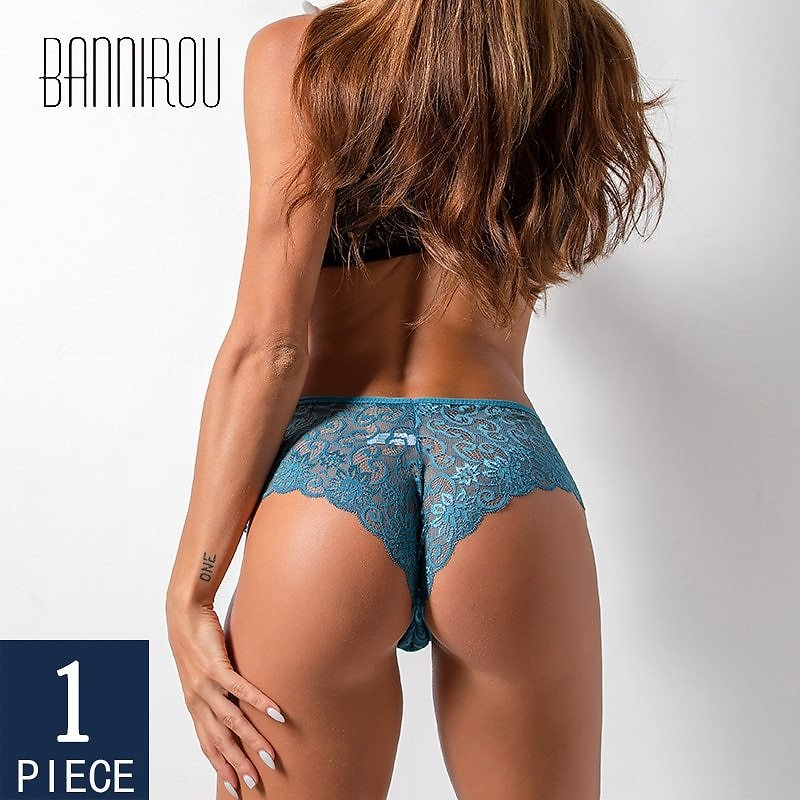 BANNIROU Woman Sexy Lace Panties Female Briefs Underwear For Women Breathable Panty Hollow Panties Briefs Sexy Lace 1 Pcs