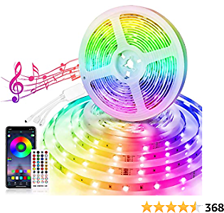Led Strip Lights, BOYKO 32.8ft Music Sync Led Lights for Room APP Controlled Color Changing Lights with 40 Keys IR Remote Control DC12V 5A Power Supply 300 SMD 5050 for Home Festival Party Decoration