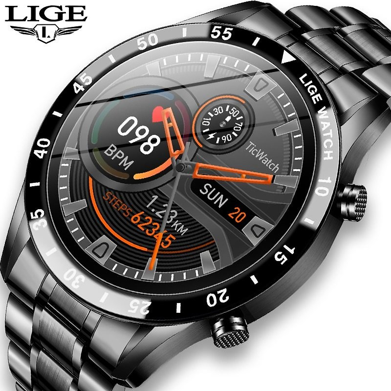 US $35.99 91% OFF|LIGE 2020 New Smart Watch Men Full Touch Screen Sports Fitness Watch IP68 Waterproof Bluetooth For Android Ios Smartwatch Mens|Smart Watches| - AliExpress