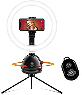 Selfie Ring Light with Smart Tracking Holder, 【2021 Upgraded】 10