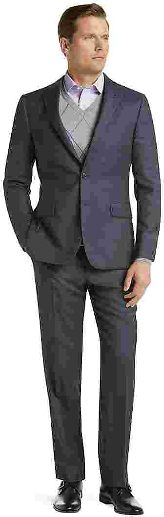 Traveler Collection Slim Fit Tic Weave Suit
